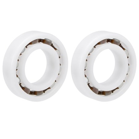 6005 POM Plastic Bearings 25x47x12mm Glass Ball Nylon Cage 2pcs - image 4 of 4