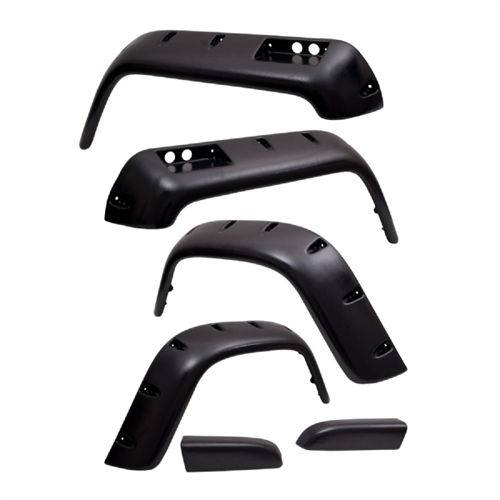 Rugged Ridge 6 Piece All Terrain Fender Flare Kit; 6 inch; 87-95 Jeep Wrangler YJ 11632.10