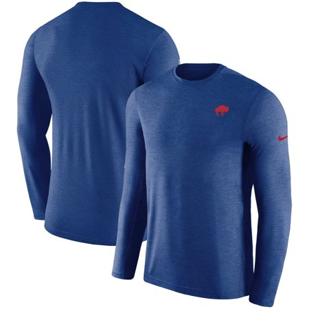 outlet store 9f22a e051f Buffalo Bills Nike Alternate Sideline Coaches Long Sleeve T-Shirt - Royal