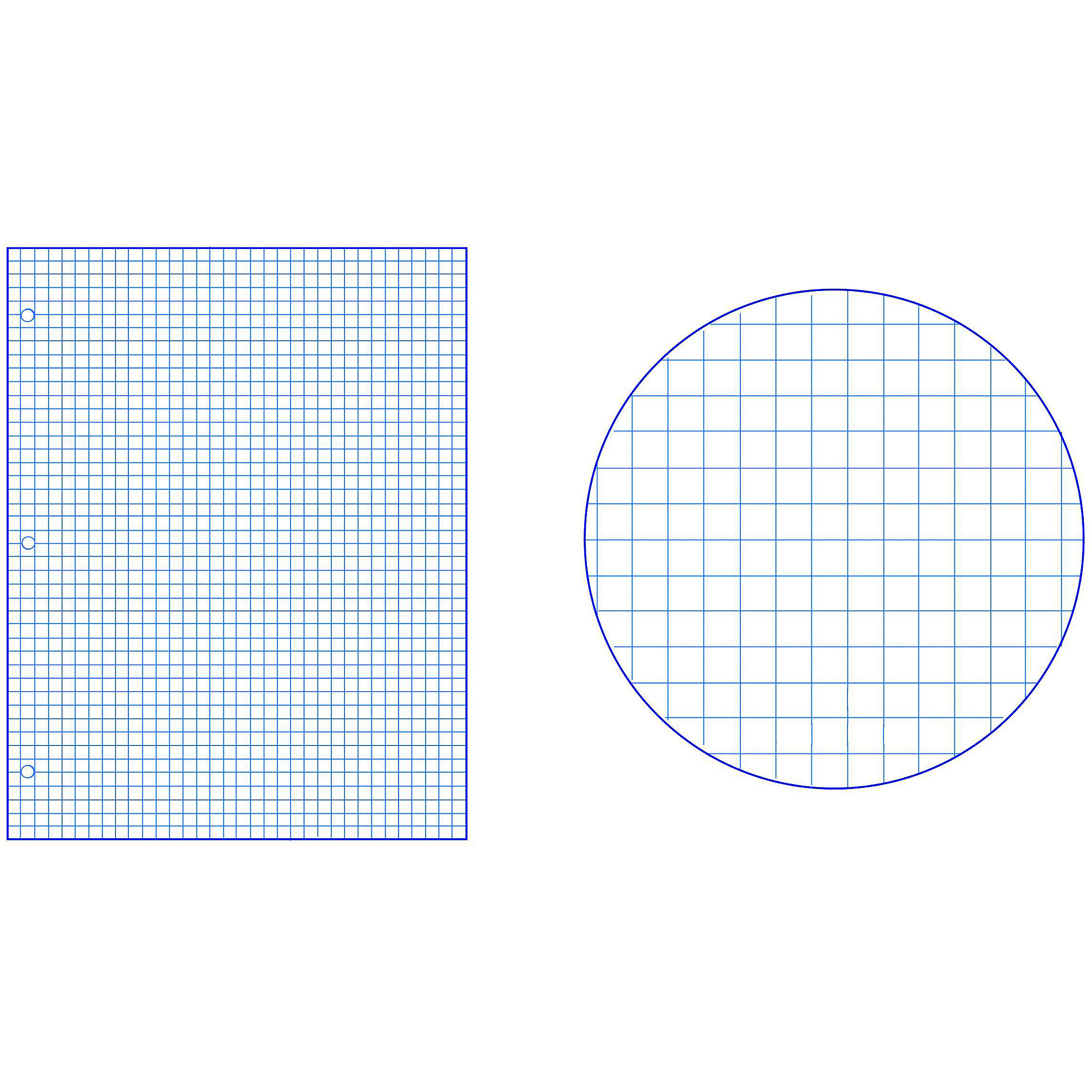 "School Smart Graph Paper With Chipboard Back, 8.5"" X 11"", White"