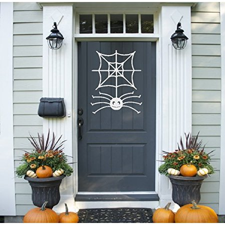 HALLOWEEN DECOR ~ SPIDER AND WEB ~ HALLOWEEN: WALL OR WINDOW DECAL, 10