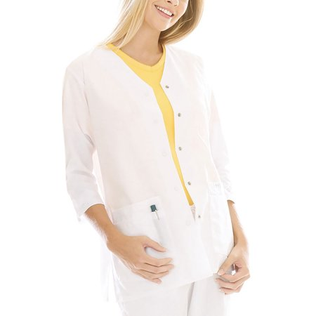 Jacket Tunic Skirt (Landau Women's 3/4 Sleeve Tunic Jacket Scrub Top)