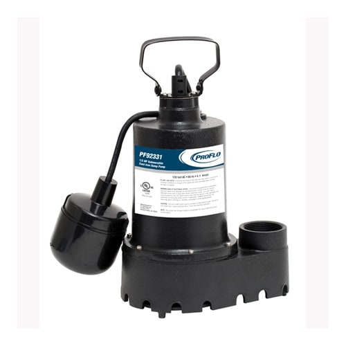 ProFlo PF92331 1/3 HP Cast Iron Submersible Sump Pump with Switch