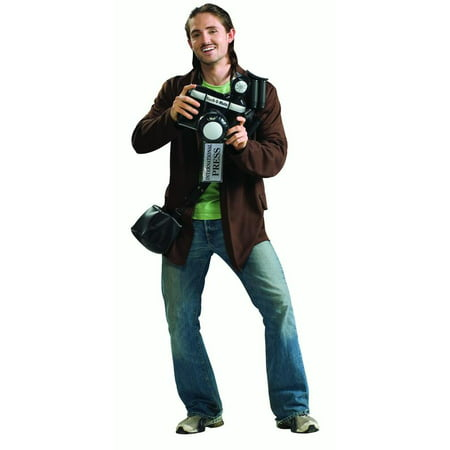 Adult Paparazzi Mens Celebrity Follower Halloween Costume-STD