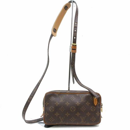 Pochette Marly Monogram 870492 Brown Coated Canvas Cross Body Bag