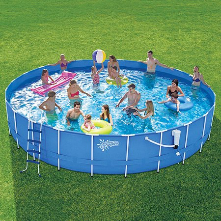 summer escapes 24 x 48 metal frame swimming pool