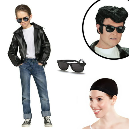 Rock N' Roll Boys Greaser Costume Kit - Best Rock And Roll Halloween Costumes