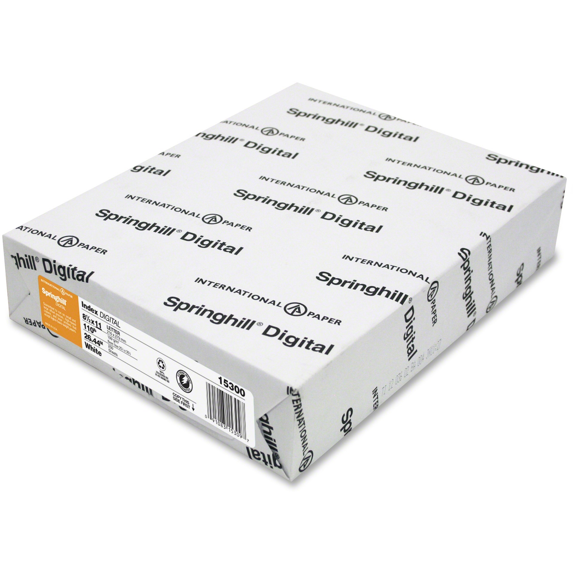 Springhill, SGH015300, Digital Index 110 lb. Paper, 1 Pack, White