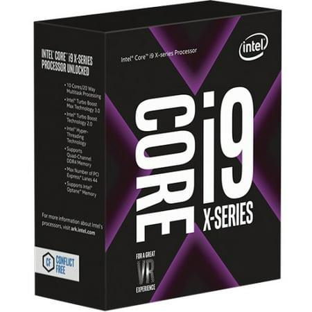 Intel Core i9 i9-7900X Deca-core (10 Core) 3.30 GHz Processor - Socket R4 LGA-2066Retail Pack - 10 MB - 13.75 MB Cache - 8 GT/s DMI - 64-bit Processing - 4.30 GHz Overclocking Speed - 14 nm - 140