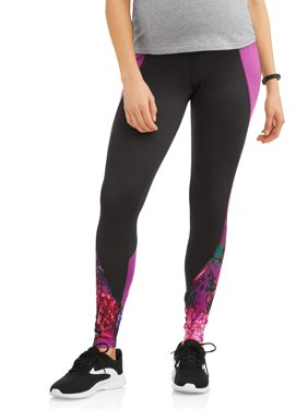 Maternity Moda Legging with Full Panel and Color Blocking (Activewear)