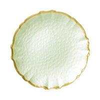 Vietri Pastel Glass Pistachio Salad Plate