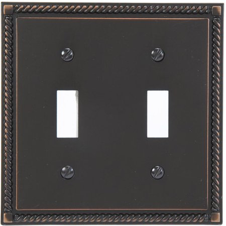 Georgian Cast Metal Double Toggle Light Switch Cover - Light Cover