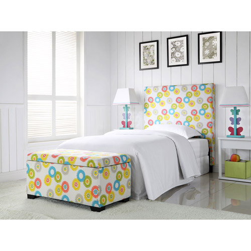 Sophia Collection by Waverly Wheels N Motion Twin Headboard and Matching Storage Trunk