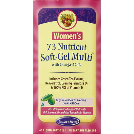 Nature's Secret Les femmes de nutriments Soft-Gel multivitamines, 60 CT