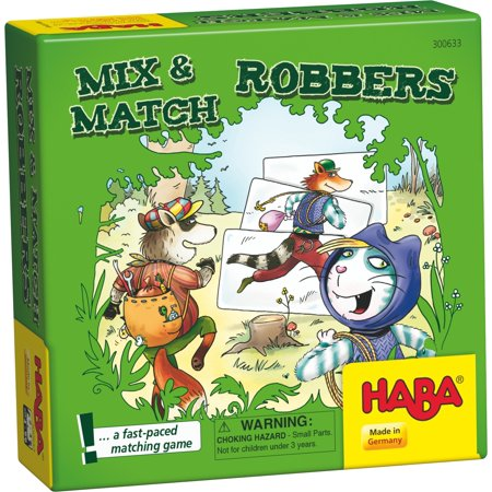 HABA Mix & Match Robbers - A Fast Paced Matching Pocket Game for Ages 4 and Up (Made in Germany) (German Board Games)