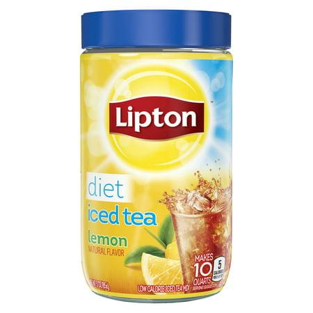 Lipton Diet Lemon Black Iced Tea Mix, 10 qt (Lipton Diet)