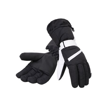 Women?s Thinsulate Lined Waterproof Outdoor Ski Gloves, L, Black Black Lined Neoprene Gloves