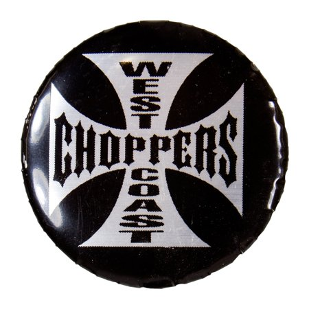 West Coast Choppers - White Cross Button West Coast Choppers Fenders