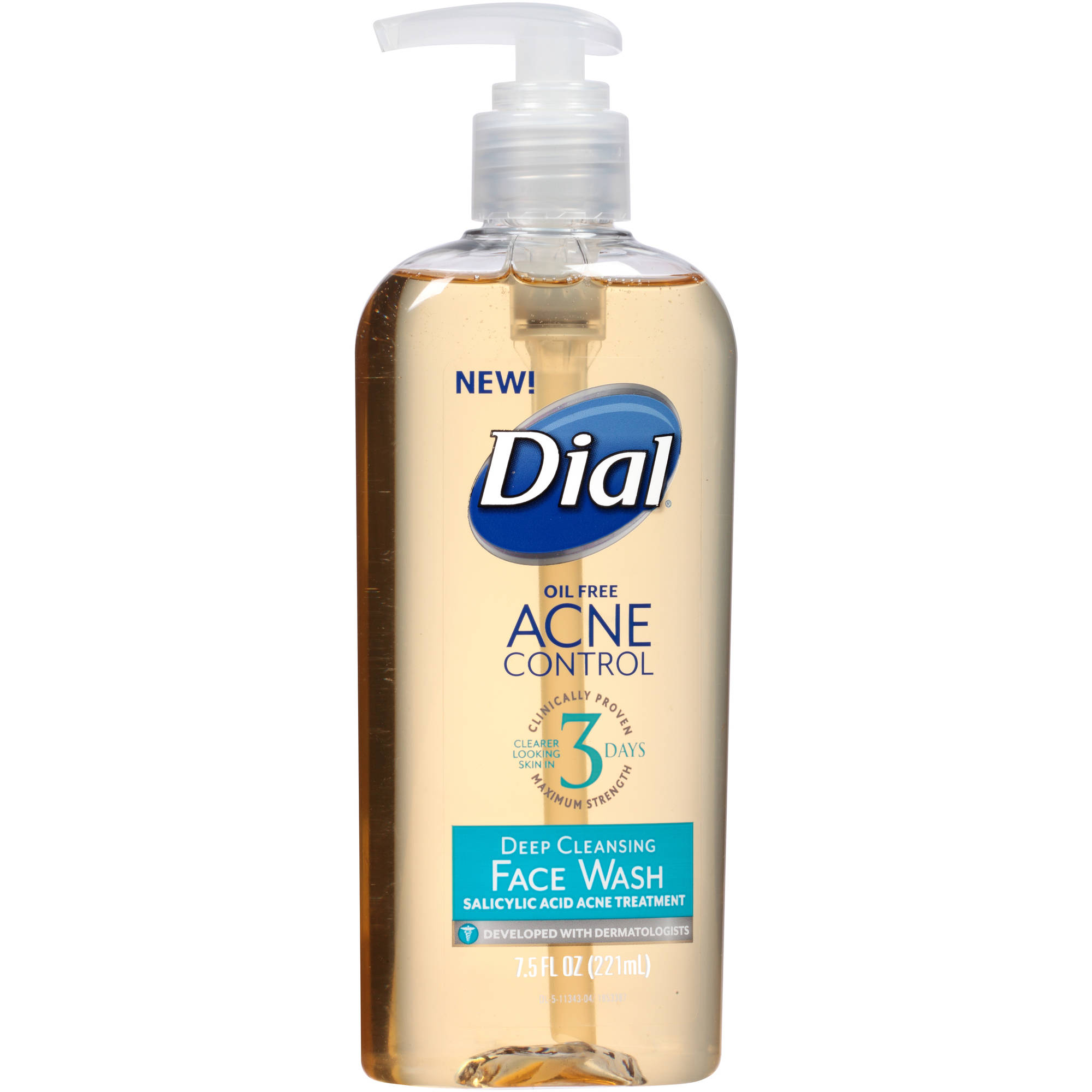 Dial Acne Control Deep Cleansing Face Wash, 7.5 fl oz
