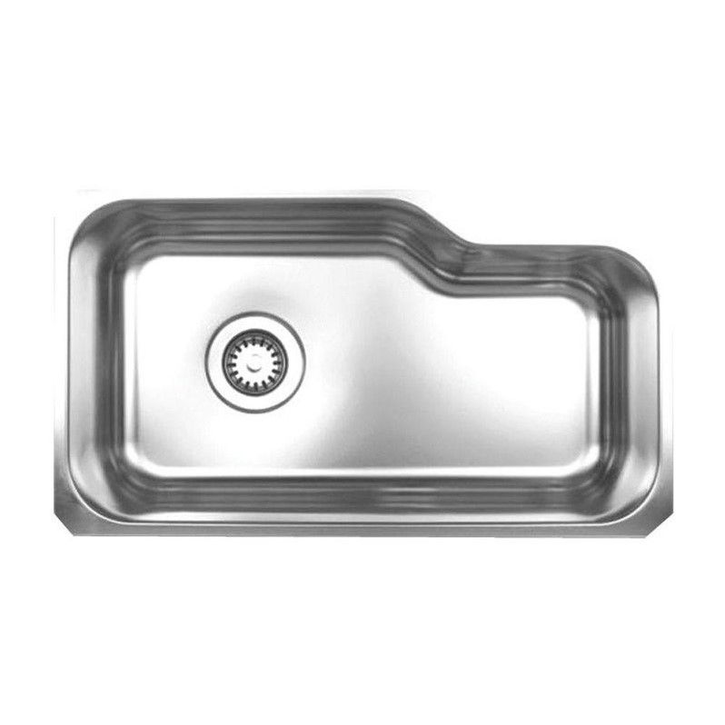 Noah's Collection Undermount Brushed Stainless Steel 32-1/8 in. 0-Hole Single Bowl Kitchen Sink