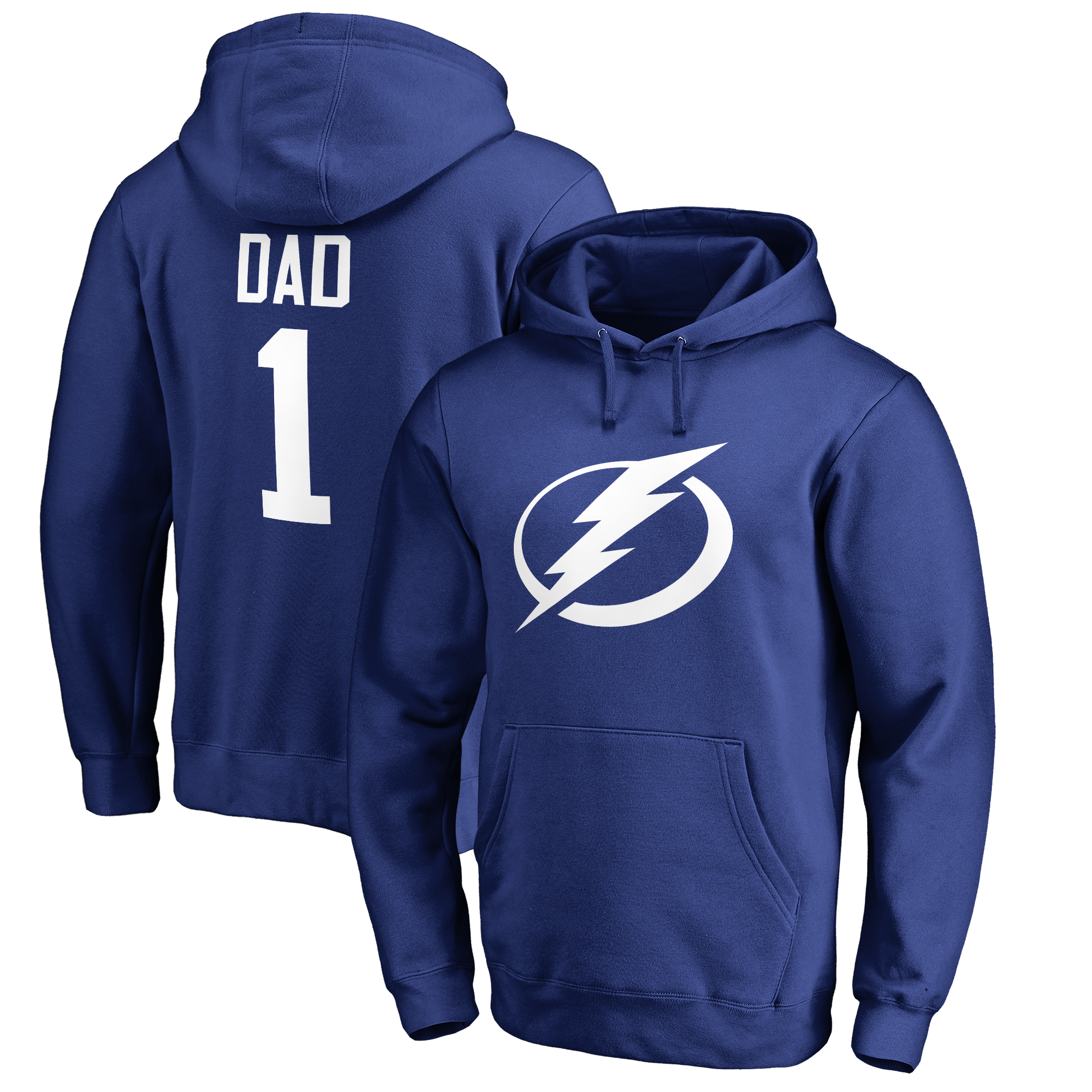 Tampa Bay Lightning Fanatics Branded Big & Tall Number One Dad Pullover Hoodie - Royal