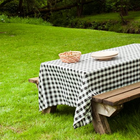60 x 102 in. Rectangular Tablecloth Black & White Checkered - Checked Paper Tablecloths