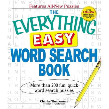 The Everything Easy Word Search Book : More than 200 fun, quick word search puzzles - Halloween Search A Word Puzzle Printable