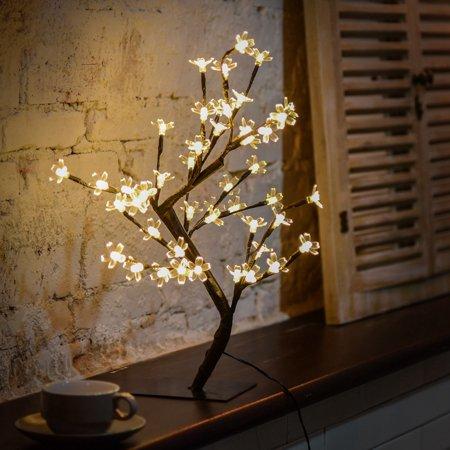 Smart Novelty 0.45M 48LED Cherry Blossom Desk Top Bonsai Tree Light ()