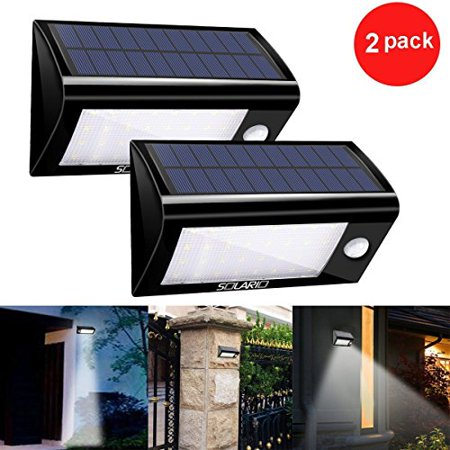 Solar Ed Security Floodlights Set Of 2 Motion Activated Lights Wireless Outdoor Light 32 Ultra Bright Leds L And Stick Best For Patio