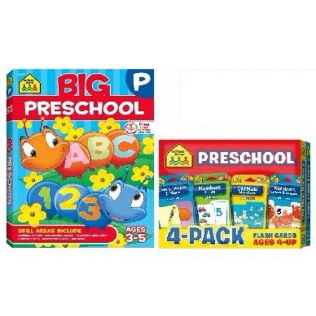Preschool Workbook and 4 pack of flashcards to help prepare for Preschool