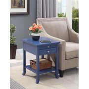 Convenience Concepts American Heritage Logan End Table with Drawer and Slide, Multiple Colors