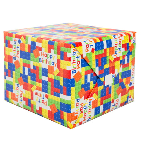 Building Blocks Wrapping Paper Roll