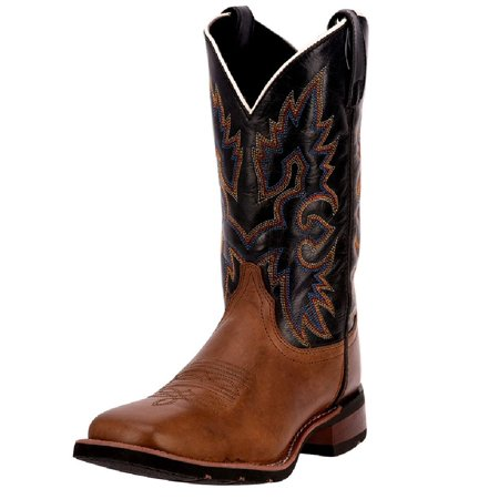 "Laredo Western Boots Mens Cowboy 11"" Broad Square Sad tan 7847"