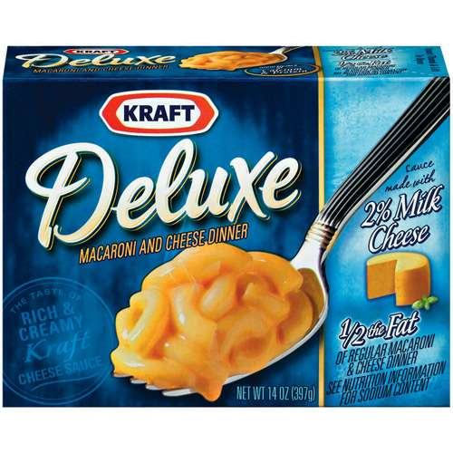 Kraft Dinners: Deluxe w/Original Cheddar Cheese Sauce 2% Milk Macaroni & Cheese Dinner, 14 oz