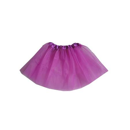 Kids Girls 3 Layer Tutu Skirt Ballet Dancewear Tulle Pettiskirt Costume 2-7Y - White Pettiskirt