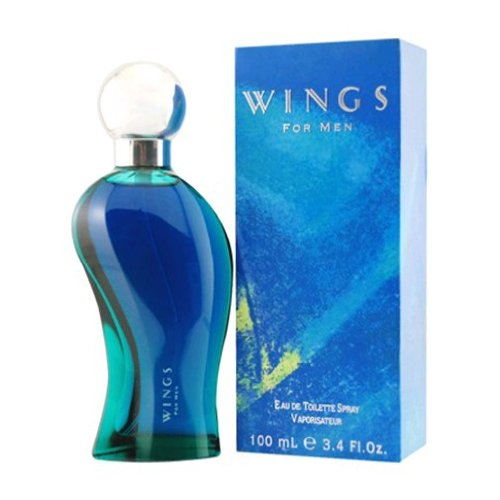 Wings by Giorgio Beverly Hills for Men, Eau De Toilette Spray, 3.4-Ounce