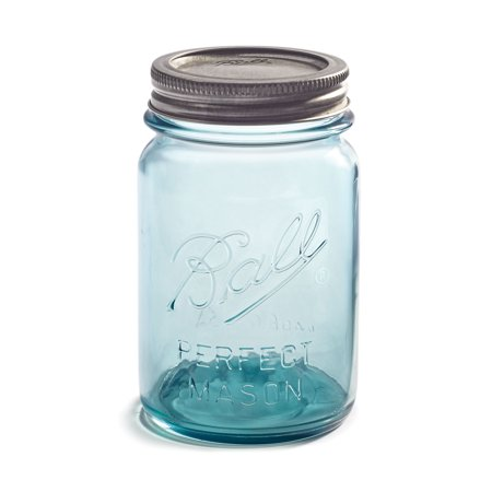 Ball® Aqua Vintage Regular Mouth Pint 16-oz. Glass Mason Jars, 4-pack