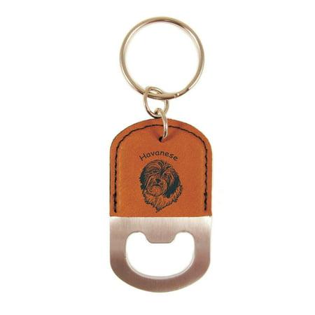 havanese head bottle opener keychain k3347. Black Bedroom Furniture Sets. Home Design Ideas