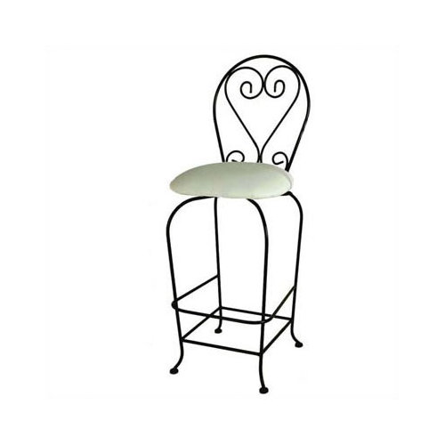 Grace Collection French 24'' Swivel Bar Stool with Cushion