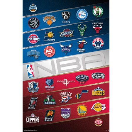 NBA Team Logos 2016 2017 Basketball Sports Poster 22x34 ...