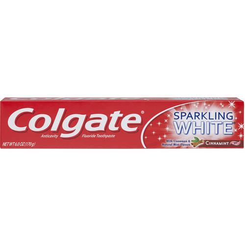 Colgate Sparkling White Toothpaste, Cinnamint - 6 oz