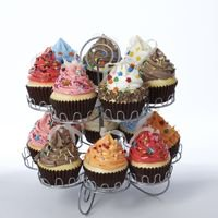 Gun Metal Gray Cupcake Display Rack(Cupcakes Not Included) - Cupcake Rack
