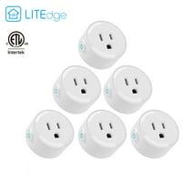 Litedge Smart Plug, White - 6-Pack