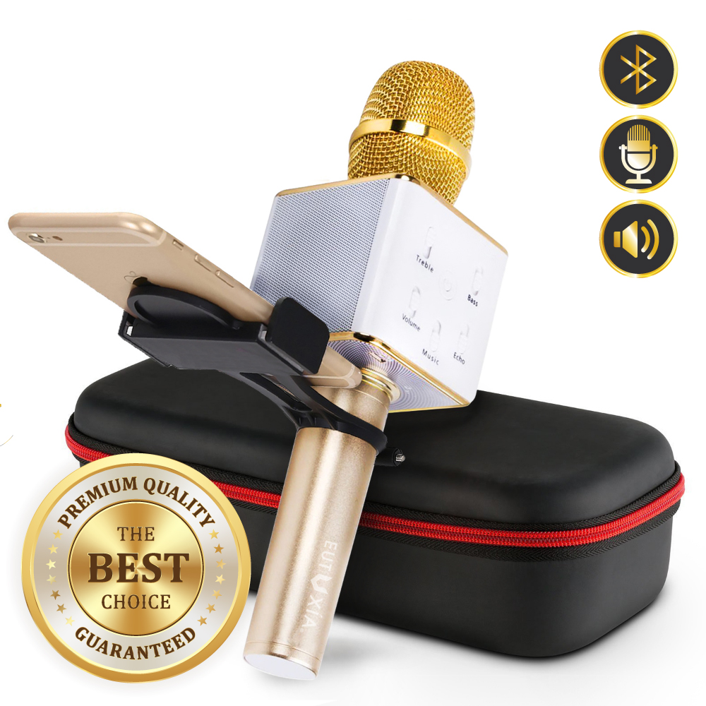 [2018 New VER.] Eutuxia Wireless Karaoke Microphone. Portable Entertainment System with... by Eutuxia