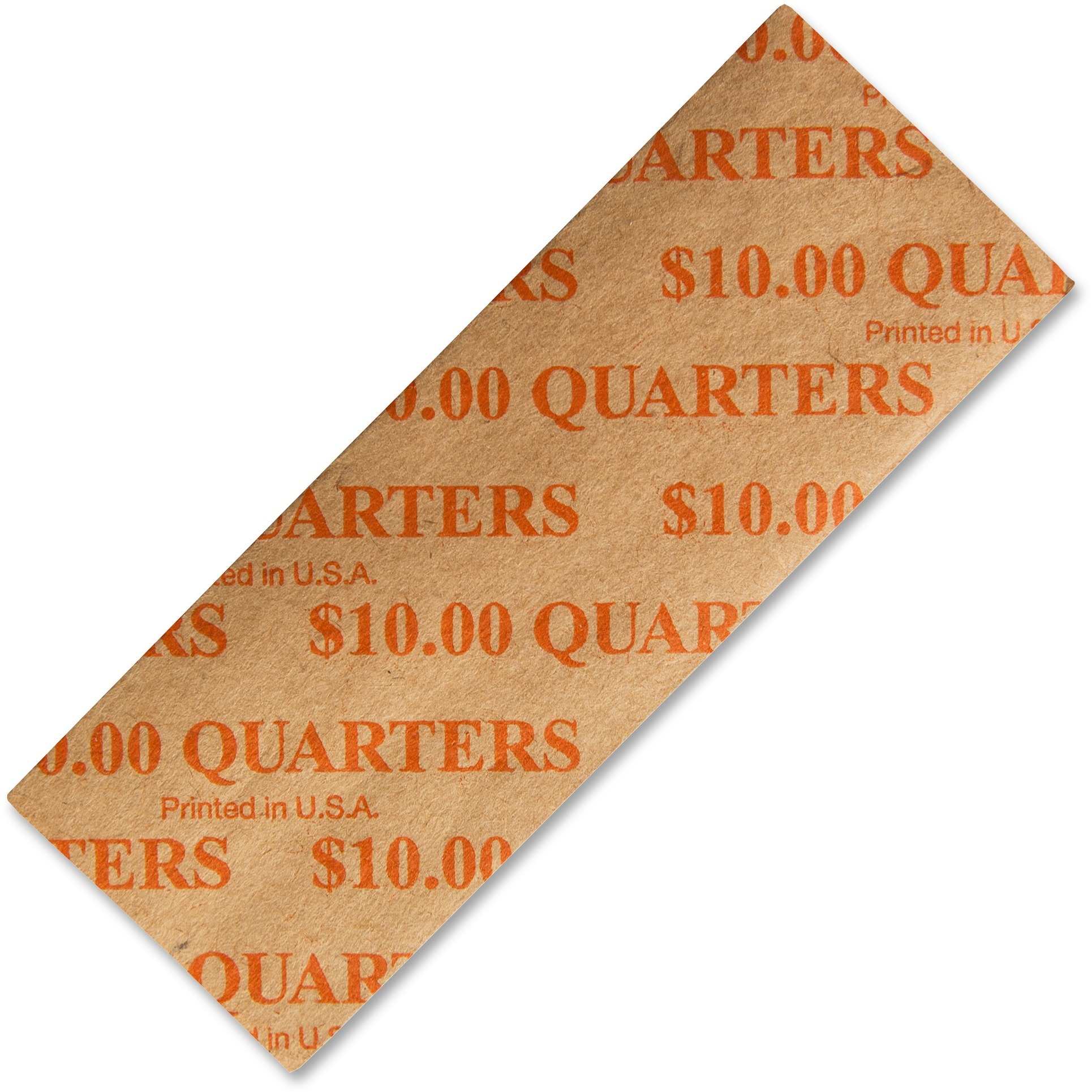 PM, PMC53025, Color-coded Flat Coin Wrappers, 1000 / Pack, Orange