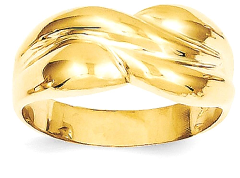 ICE CARATS ICE CARATS 14kt Yellow Gold Twisted Dome Band Ring Size 7.00 Fine Jewelry Ideal Gifts For Women Gift Set From... by IceCarats Designer Jewelry Gift USA