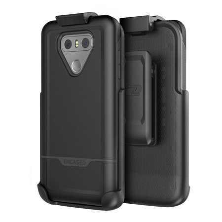 LG G6 Belt Clip Case, Protective Strong Impact Armor w/ Secure-fit Holster (Rebel Series) By Encased (Smooth