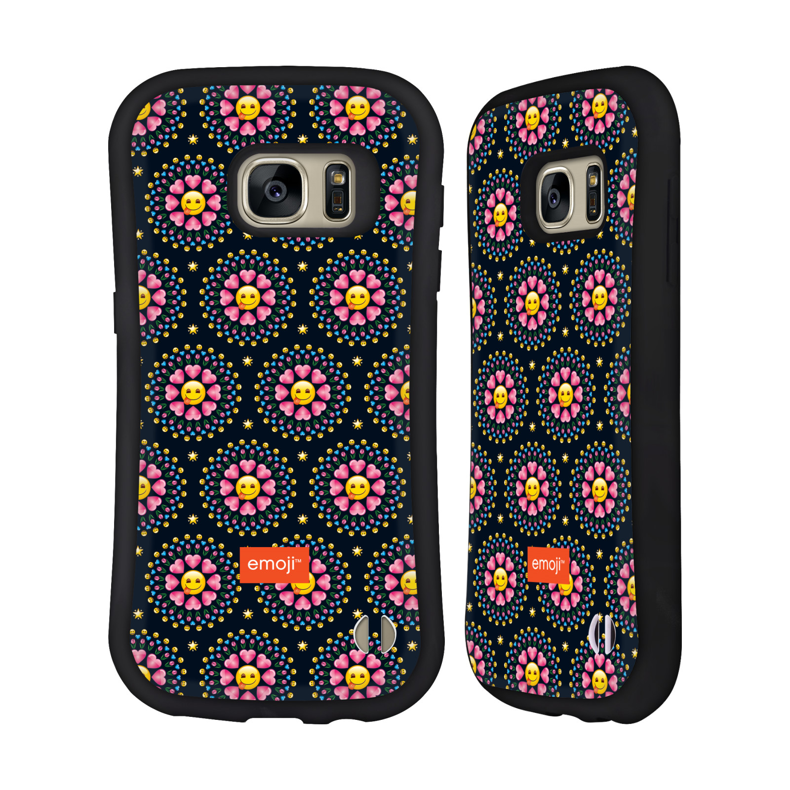 OFFICIAL EMOJI ASSORTED PRINTS HYBRID CASE FOR SAMSUNG PHONES