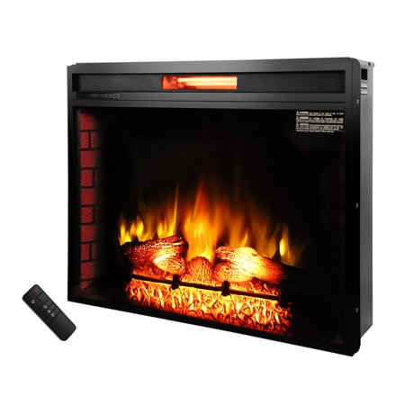 "Ktaxon Room 1500W 33"" Fireplace w/Remote Control,Electric Fireplace Heater for Home-Black"