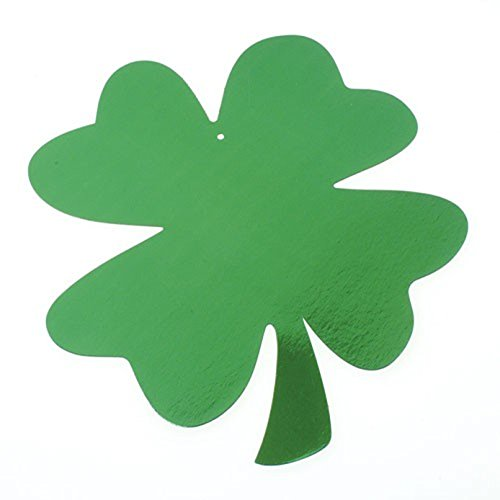 Lot Of 36 Foil Hanging Green Metallic St. Patrick's Day Shamrock Decorations